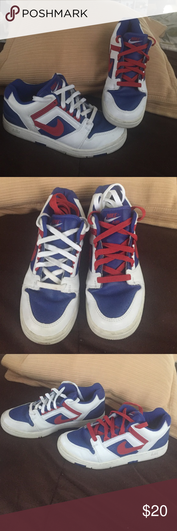 Women's Air Force ll Low Women's Air Force ll low Nike , red ,,white and blue. Great condition Nike Shoes Athletic Shoes