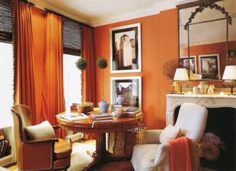 This room is a fire orange. it brings up the energy ...