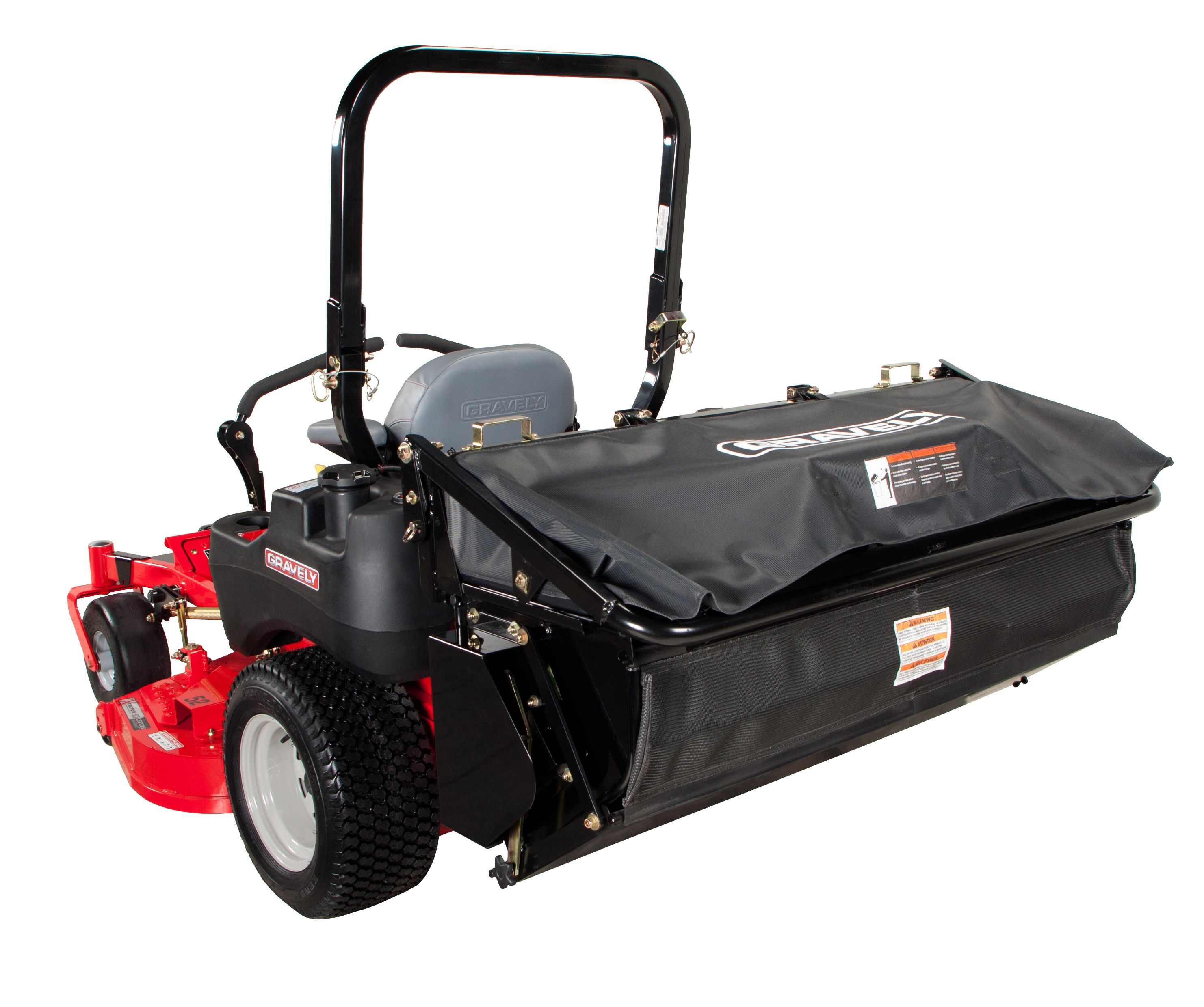 Hirrican Riding Leaf Blower: #Gravely Pro-Turn 200 & 400 3-Bag Dump From Seat Bagger