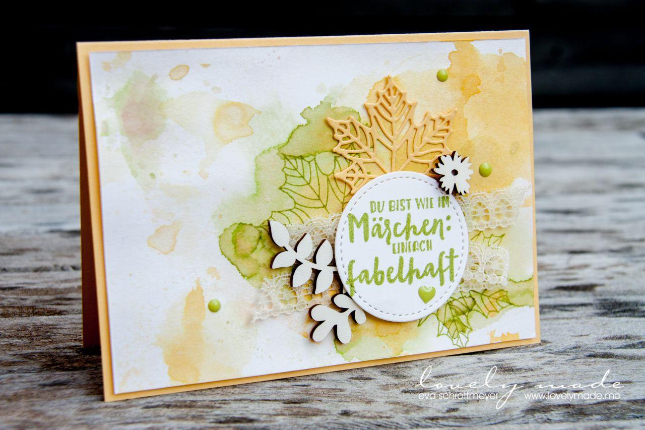 Autumn In Pastel Clear Lovely Made Herbstkarten Karten Basteln Karten Handgemacht