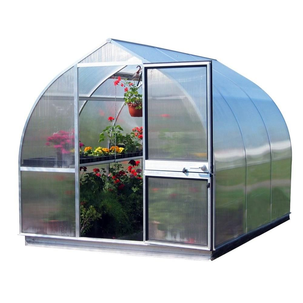Riga 7 Ft 8 In W X 10 Ft 6 In L Greenhouse Best Insulation Polycarbonate Panels Floor Framing