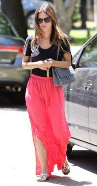 Rachel Bilson fashion - I'll be living in maxi skirts this spring! :)