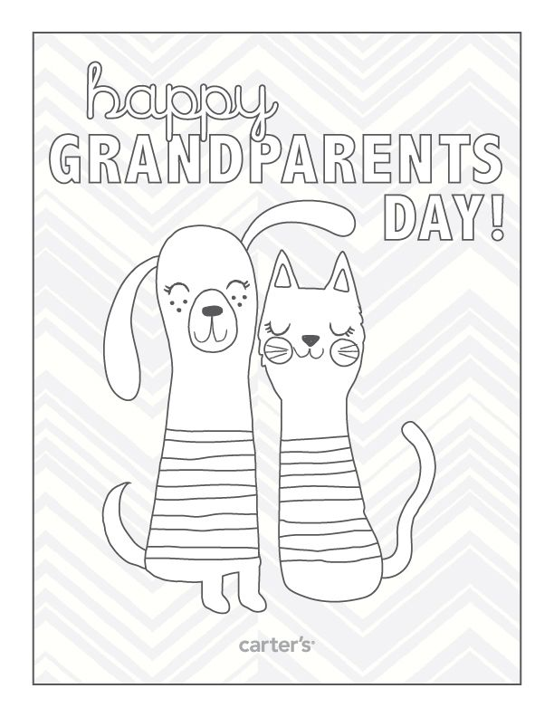 Happy Grandparents Day Download Free Printables For Your Little Ones To Color And Give To Grandparents Day Crafts Happy Grandparents Day Children S Day Craft