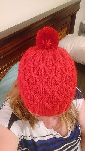 This Fun Hat Uses Twisted Stitches To Create A Lot Of Textural