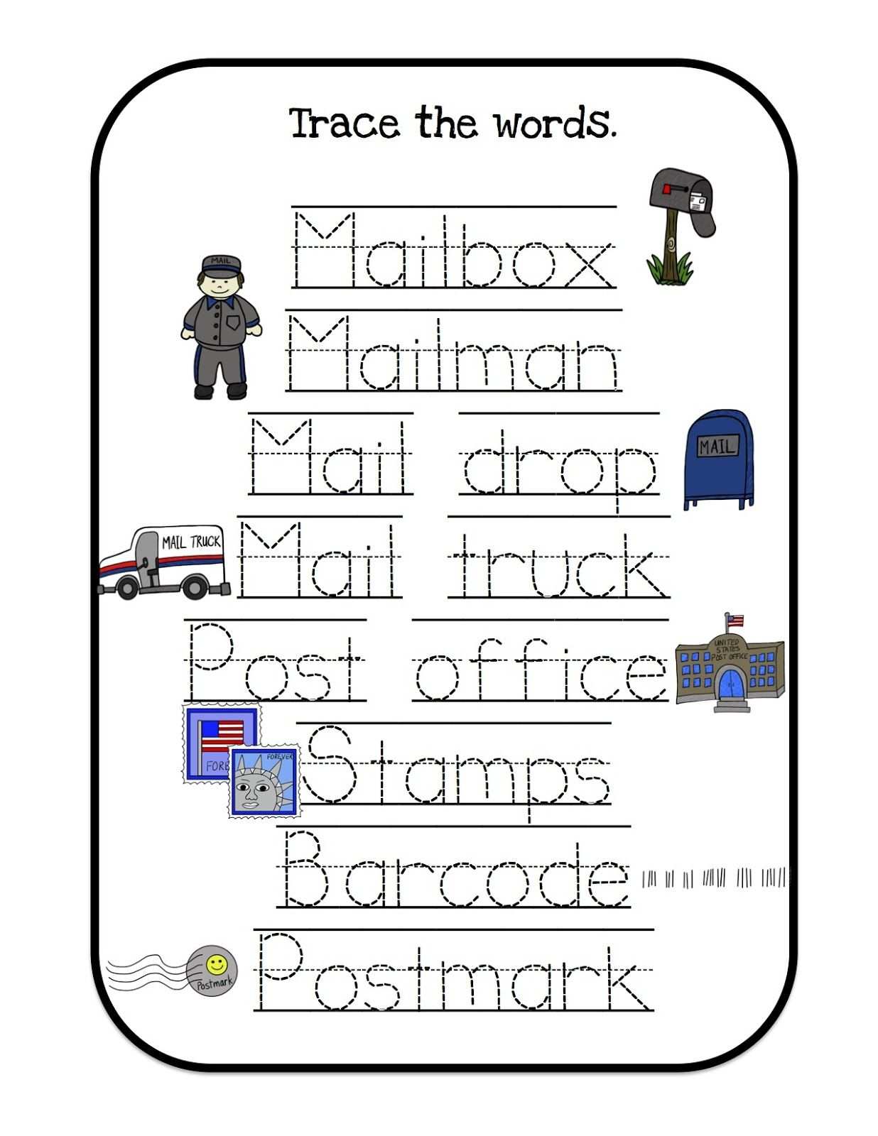 Mail Trace The Words 1 236 1 600 Pixels