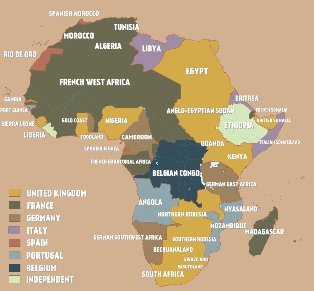 Maps on the web africa at the start of word war 1 1914 more a map of colonial africa just before the outbreak of world war i or something worth considering every time someone blames africans for africas problems gumiabroncs Image collections