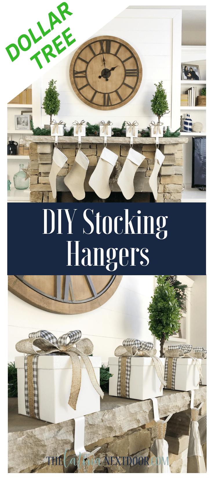 Dollar Tree DIY Stocking Hangers CHRISTMAS DECOR Diy