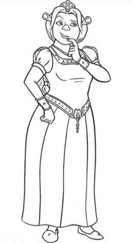 Princess Fiona Shrek Coloring Pages Coloring Pictures