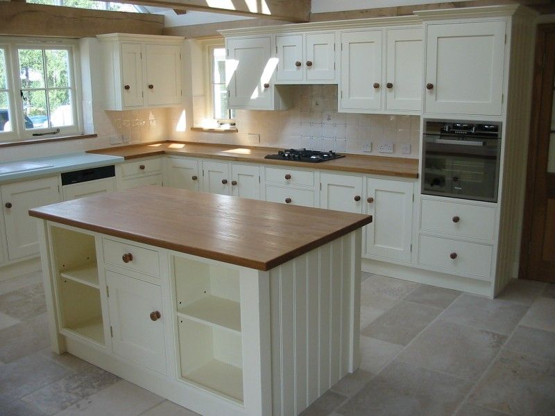 Hand Painted Kitchen Design Ideas ~ Hand painted kitchen with oak worktop