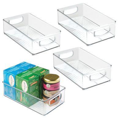 Plastic Kitchen Pantry Food Storage Organizer Bin 10 X 6 X 3 Food Storage Organization Pantry Storage Plastic Storage Bins