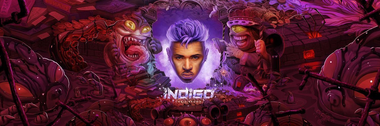 Chris Brown Chris Brown Lit Wallpaper Indigo