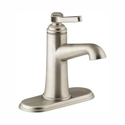 Photo of KOHLER Georgeson Single Hole Single Handle Water-Saving Bathroom Faucet in Vibrant Brushed Nickel-K-R99912-4D-BN – The Home Depot