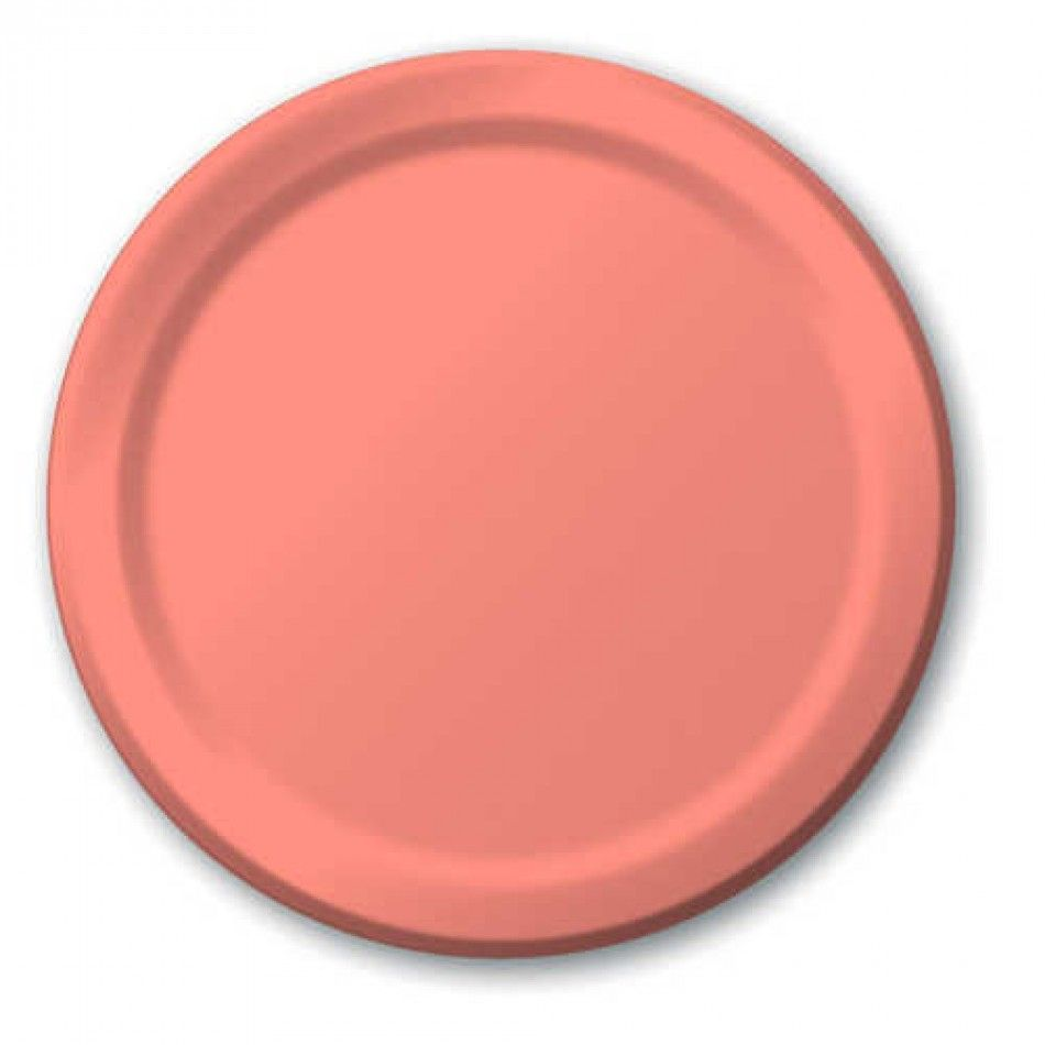 7 dessert paper plates light coral 224 793140b coral paper plate