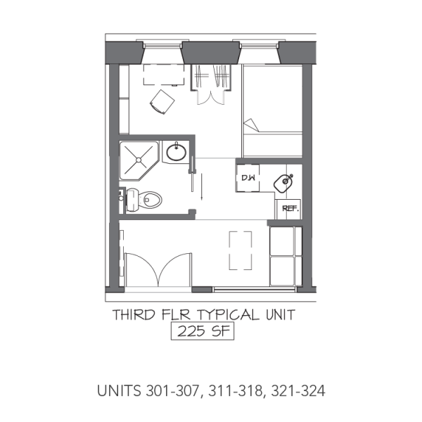 Micro Apartments Being Built Inside Indoor Mall Micro Apartment Studio Floor Plans Apartment Floor Plans