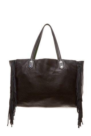 Payton Leather Fringe Tote Bag
