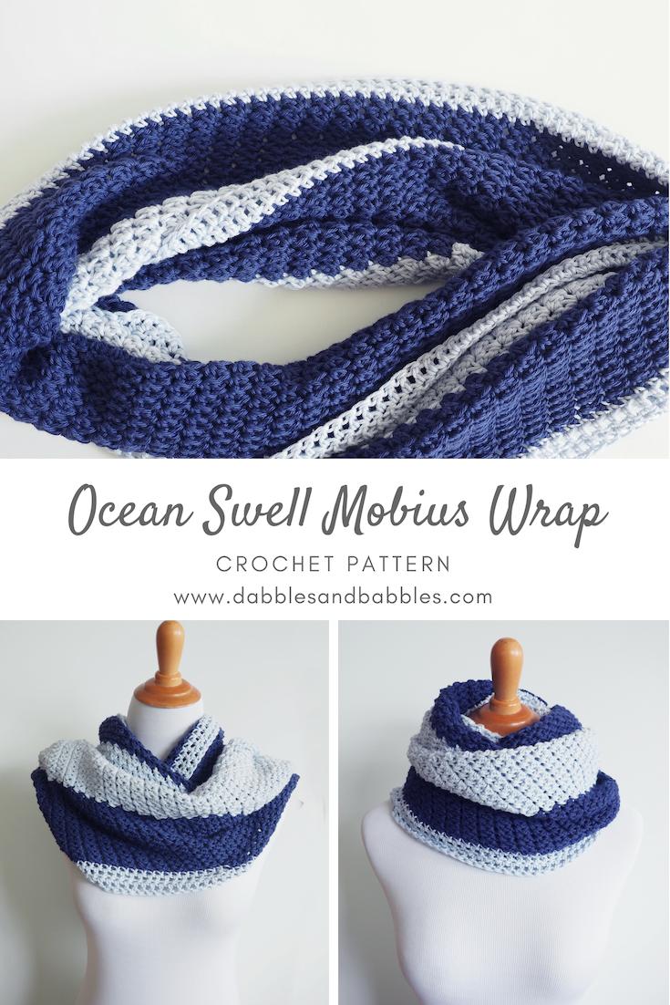 Ocean Swell Mobius Wrap Crochet Pattern Crocheting Ganchillo