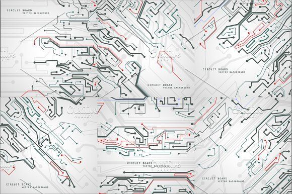 cool Circuit board vector background CreativeWork247 - Fonts ...