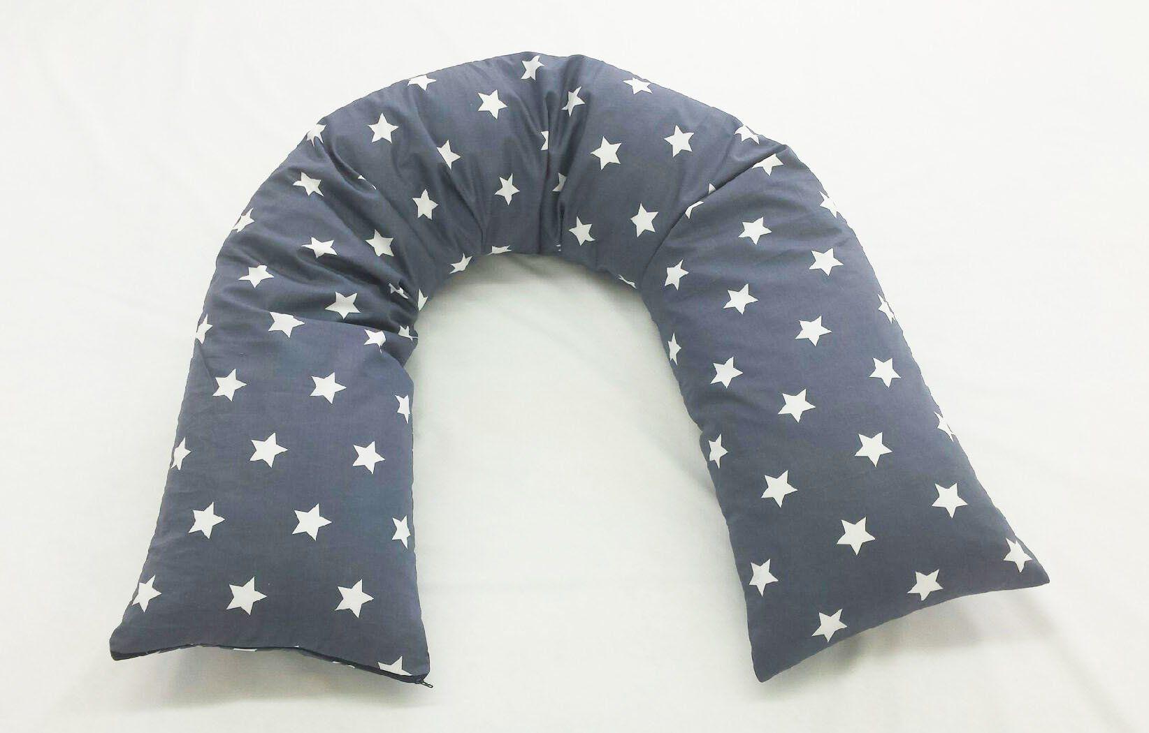 Seitenschlaferkissen Stillkissen 200 X 35 Cm Baumwolle Sterne