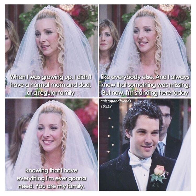 Phoebe And Mikes Wedding This Scene Made Me Tear Up Weddingmemes Friends Phoebe Friends Scenes Friends Moments