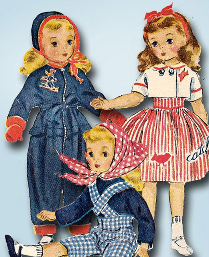 1950s Vintage McCalls Sewing Pattern 1720 18 Inch Sweet Sue Doll Clothes ORIG…