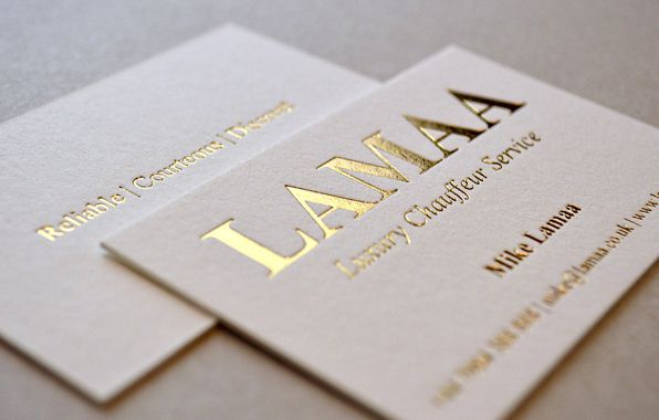 Cotton business card with metallic gold foil business card cotton business card with metallic gold foil colourmoves