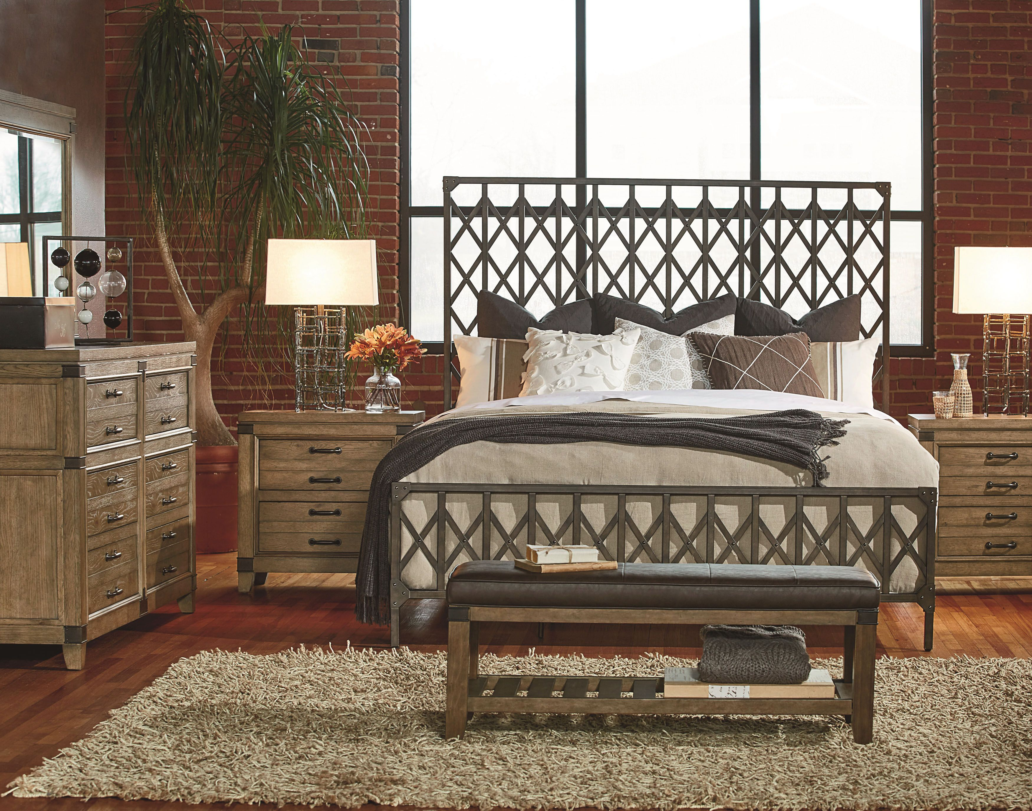 Inspired By Charming Design Elements From Old Factories And Repurposed Materials This Metal And Legacy Classic Furniture Bedroom Sets Queen King Bedroom Sets