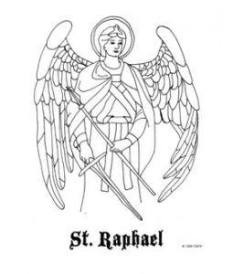 Saint Raphael Catholic Coloring Page