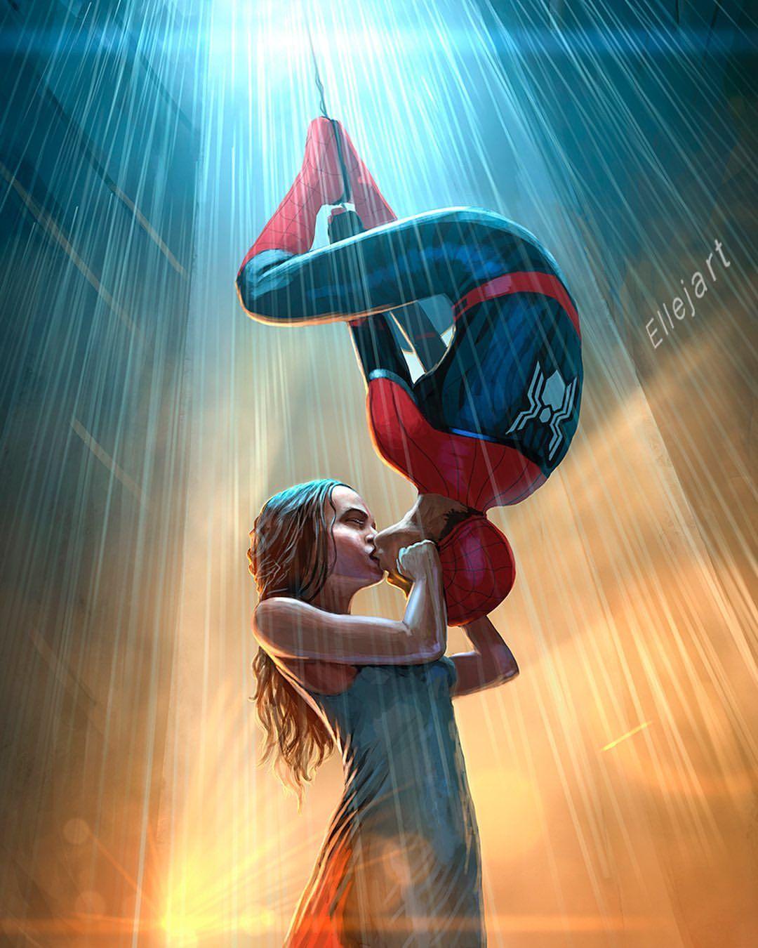 Love Story Dontspoilfarfromhome Spidermanfarfromhome Kiss