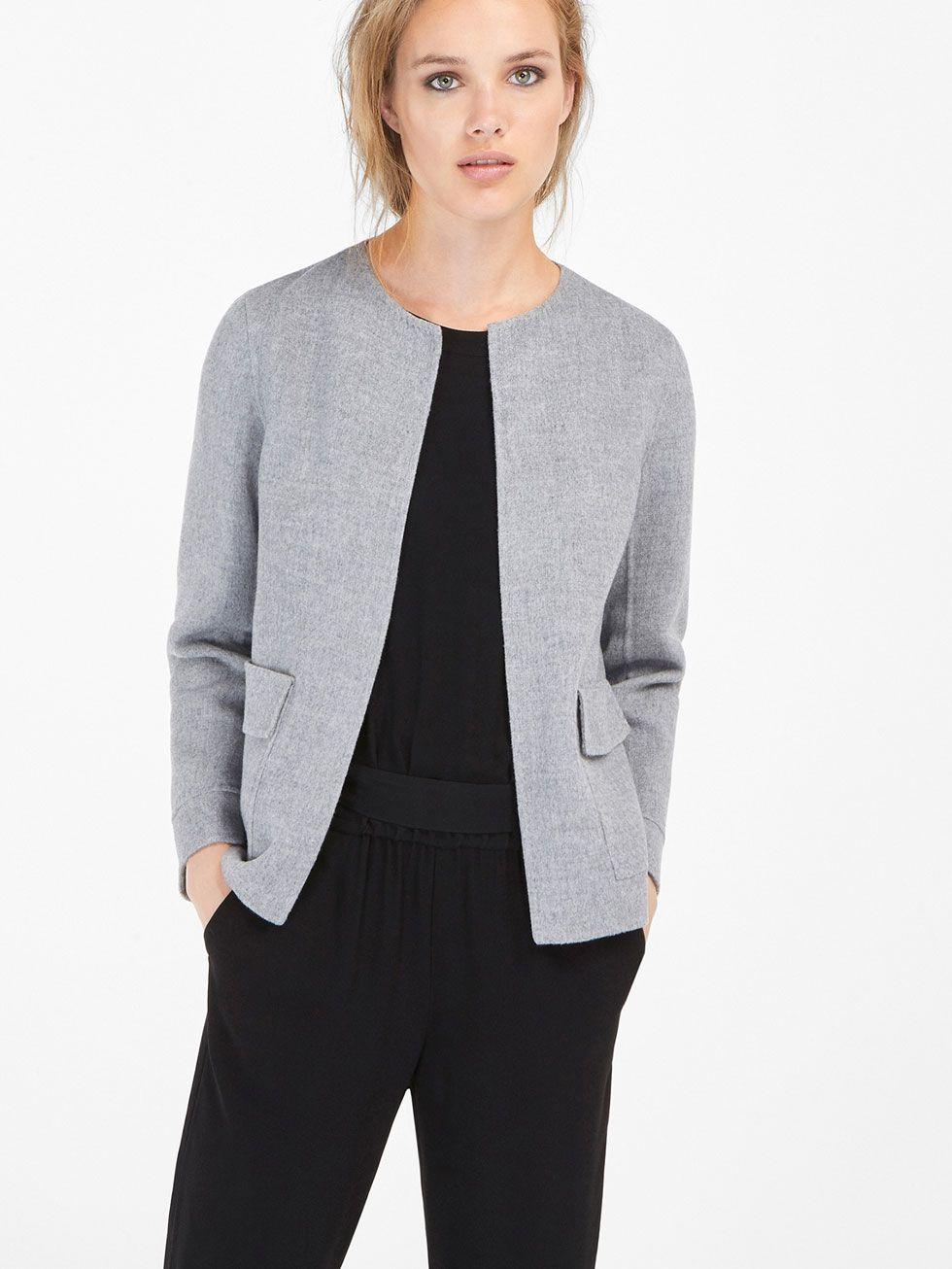 Kurzjacke Grau | Jacken, Kurze jacken und Jacken damen