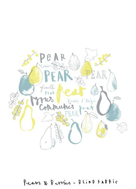 Charlotte Farmer, illustration, lettering, food, illustration, drawing, colour, ink, fruit, pear