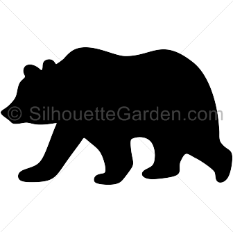 Grizzly bear silhouette clip art. Download free versions ...