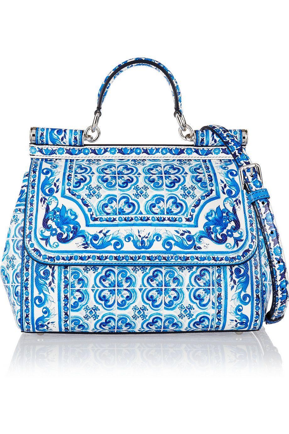 Dolce & Gabbana - Sicily printed leather shoulder bag