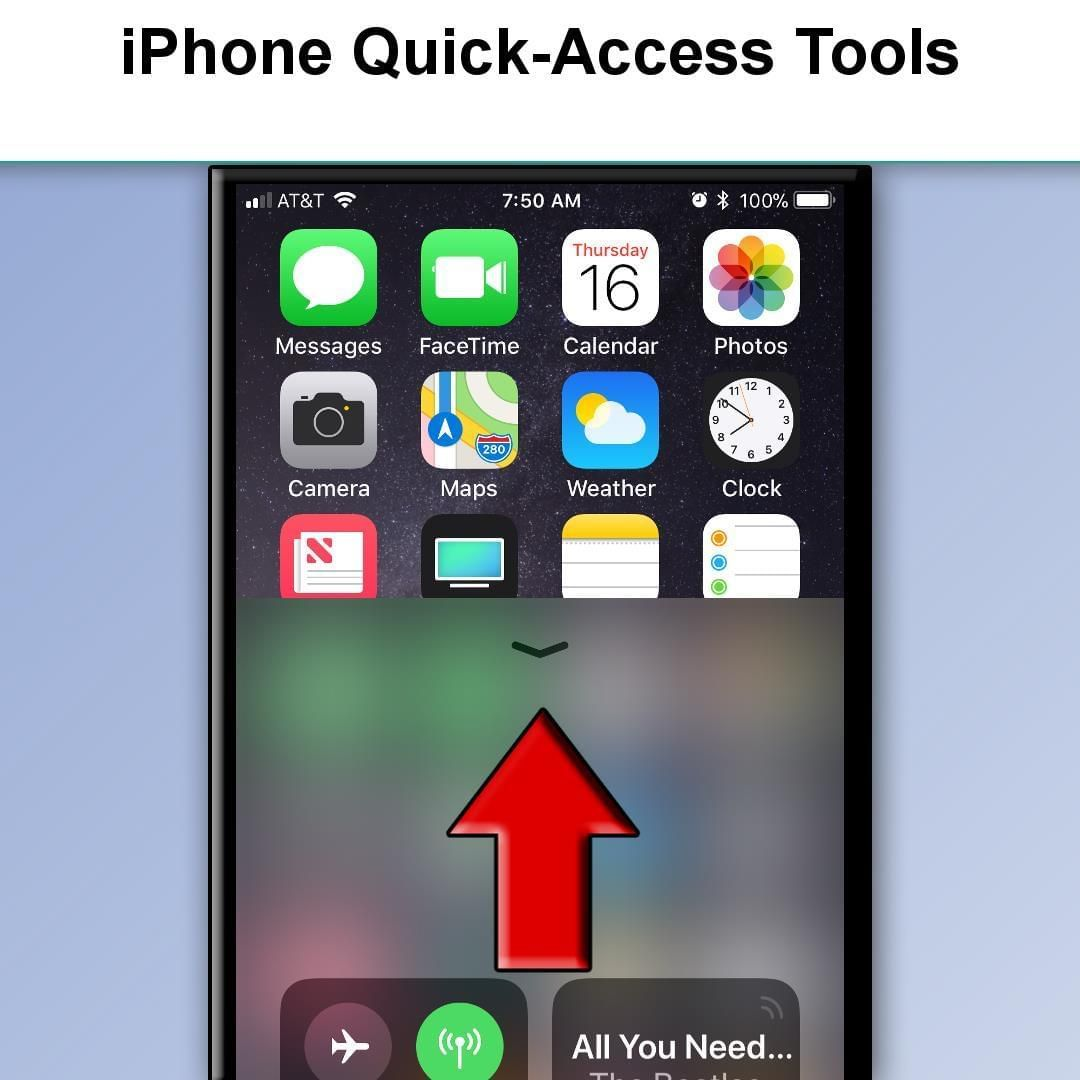 You can quickly access some handy tools on your iPhone or