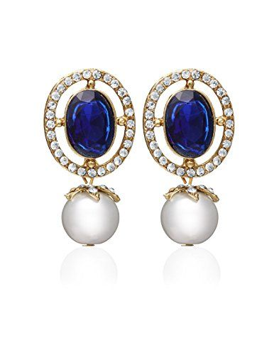 tone crystal pave silver earrings stone silvertone i tradesy givenchy blue pav