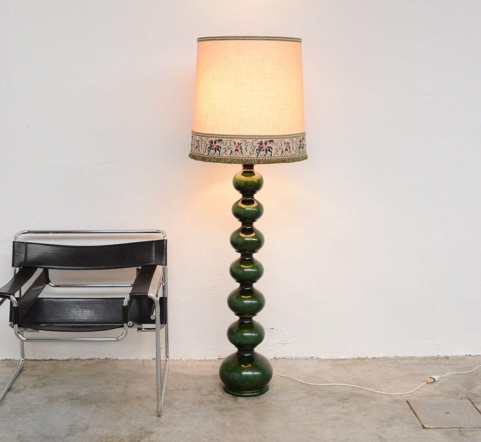 Impressive ceramic floor lamp for Kaiser Leuchten. - Impressive Ceramic Floor Lamp For Kaiser Leuchten. Vintage