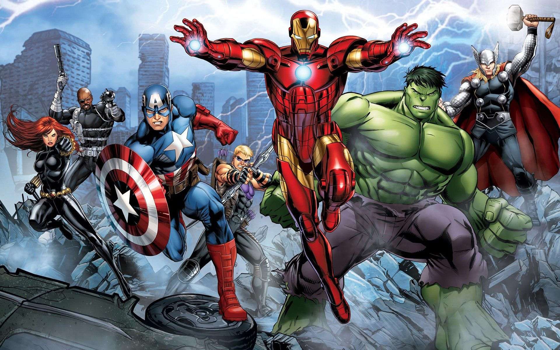 Download Hd Wallpapers Of 164811 The Avengers Iron Man Hulk Hawkeye Thor Captain America Nick Avengers Cartoon Marvel Comics Wallpaper Avengers Pictures