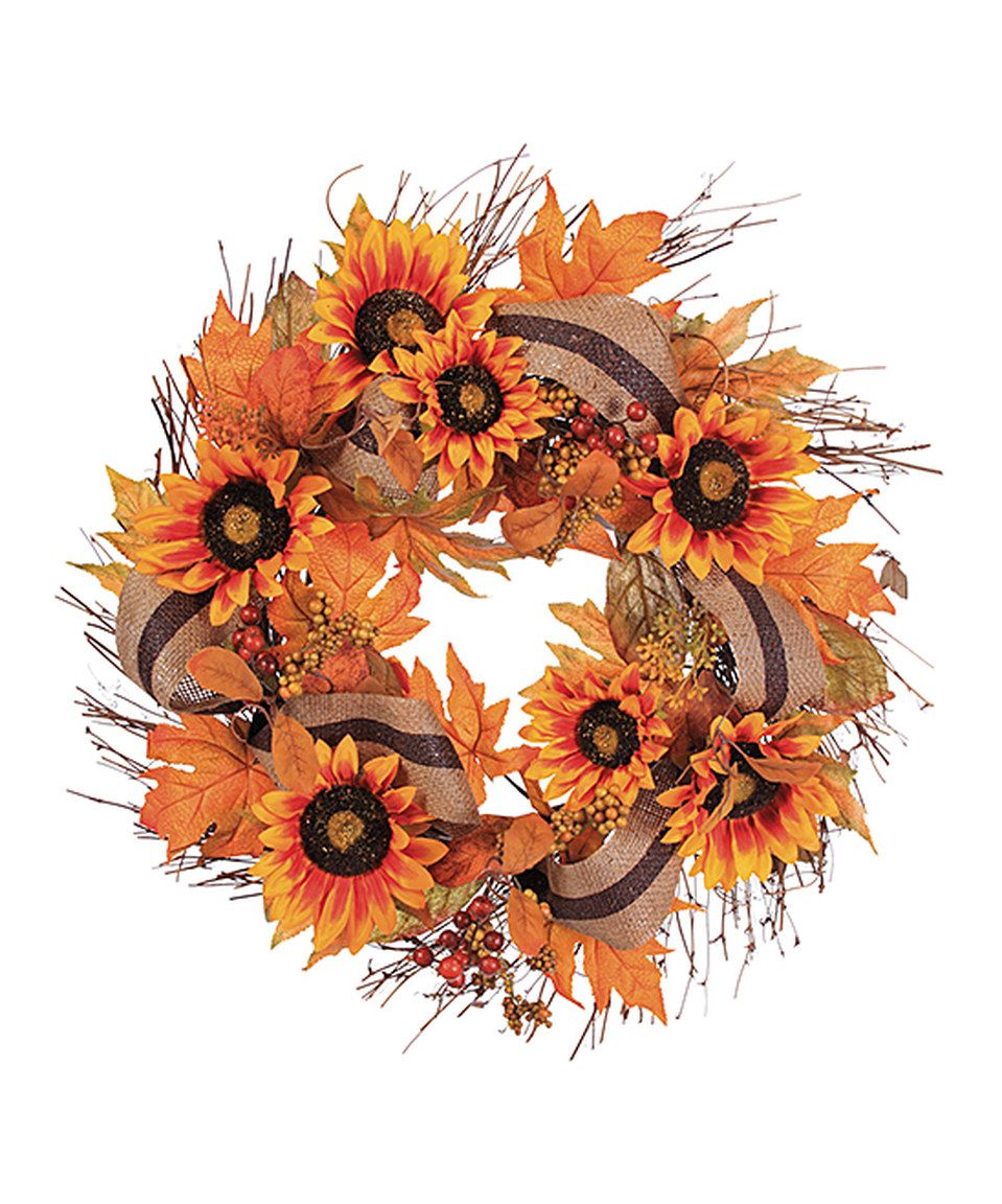 This Sunflower Berry Wreath By Allstate Floral Craft Is Perfect