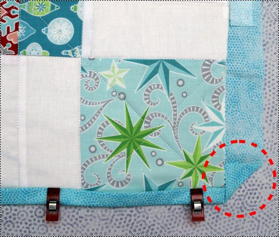 How To Bind A Quilt With The Backing Fabric