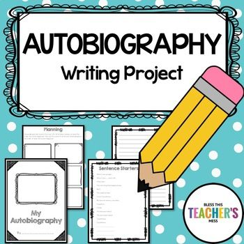 Autobiography Writing Project Writing paper, Sentences and Students