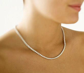 Single strand diamond necklace