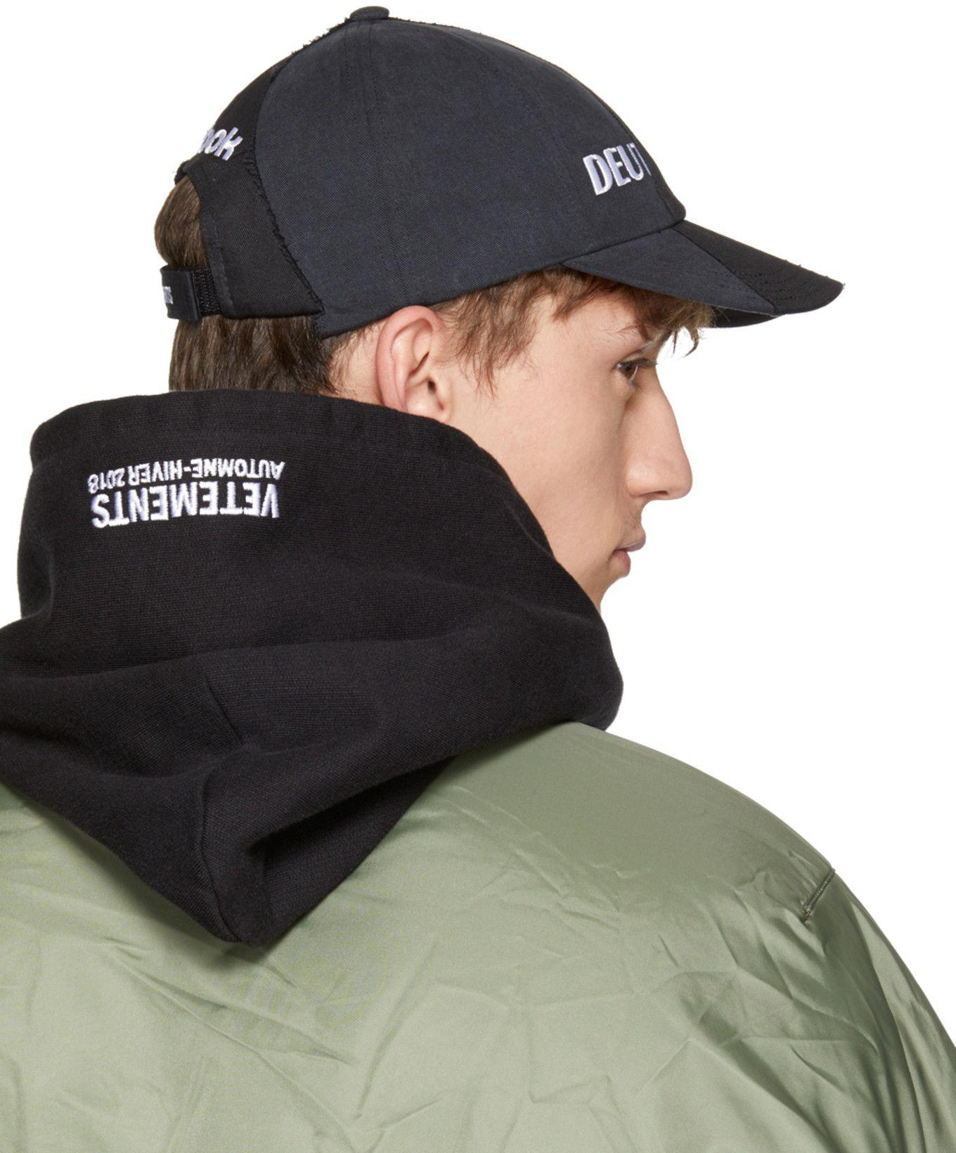 763d696de24bcf Vetements - Black Reebok Edition Reworked Cap | headwear | Black ...