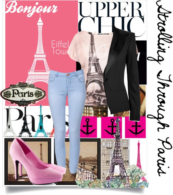 """Stolling Through Paris"" by tanmayee123 ❤ liked on Polyvore"