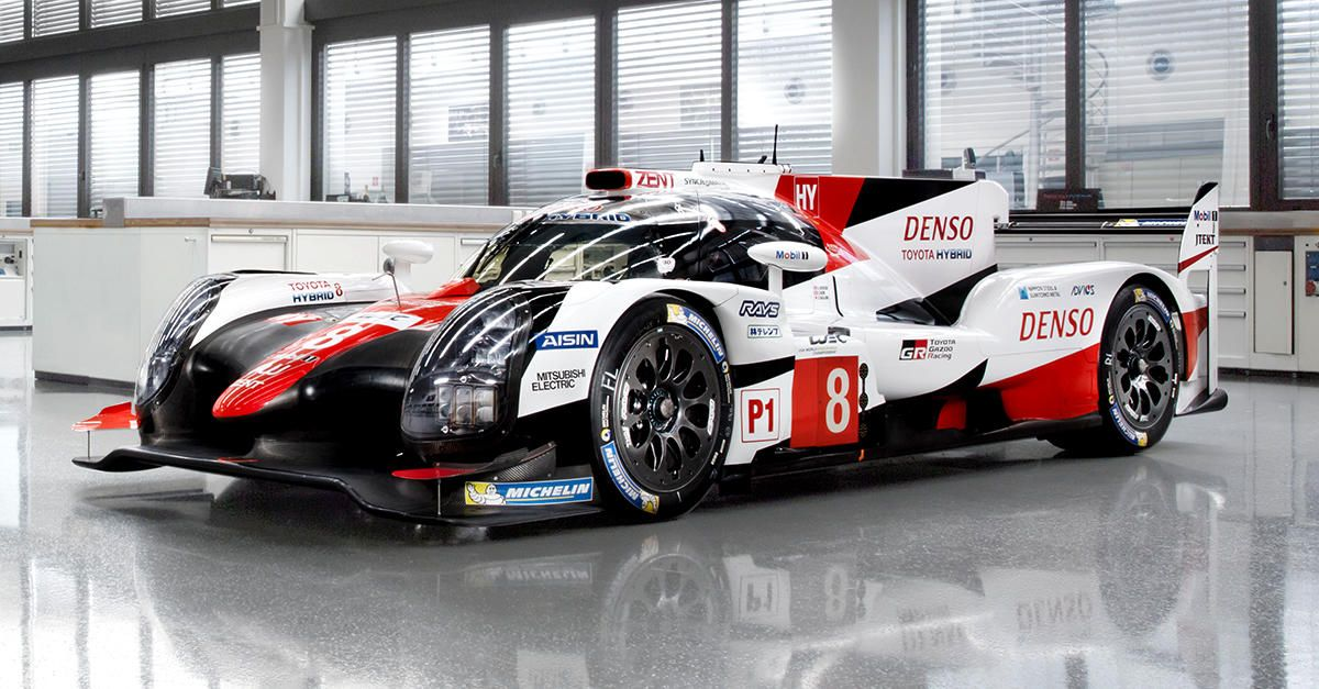 Toyota Gazoo Racing Revealed Today The Updated Ts050 Hybrid Race Car Which Will Carry Its Hopes In The 2017 Fia Worl Super Luxury Cars Sports Car Racing Racing