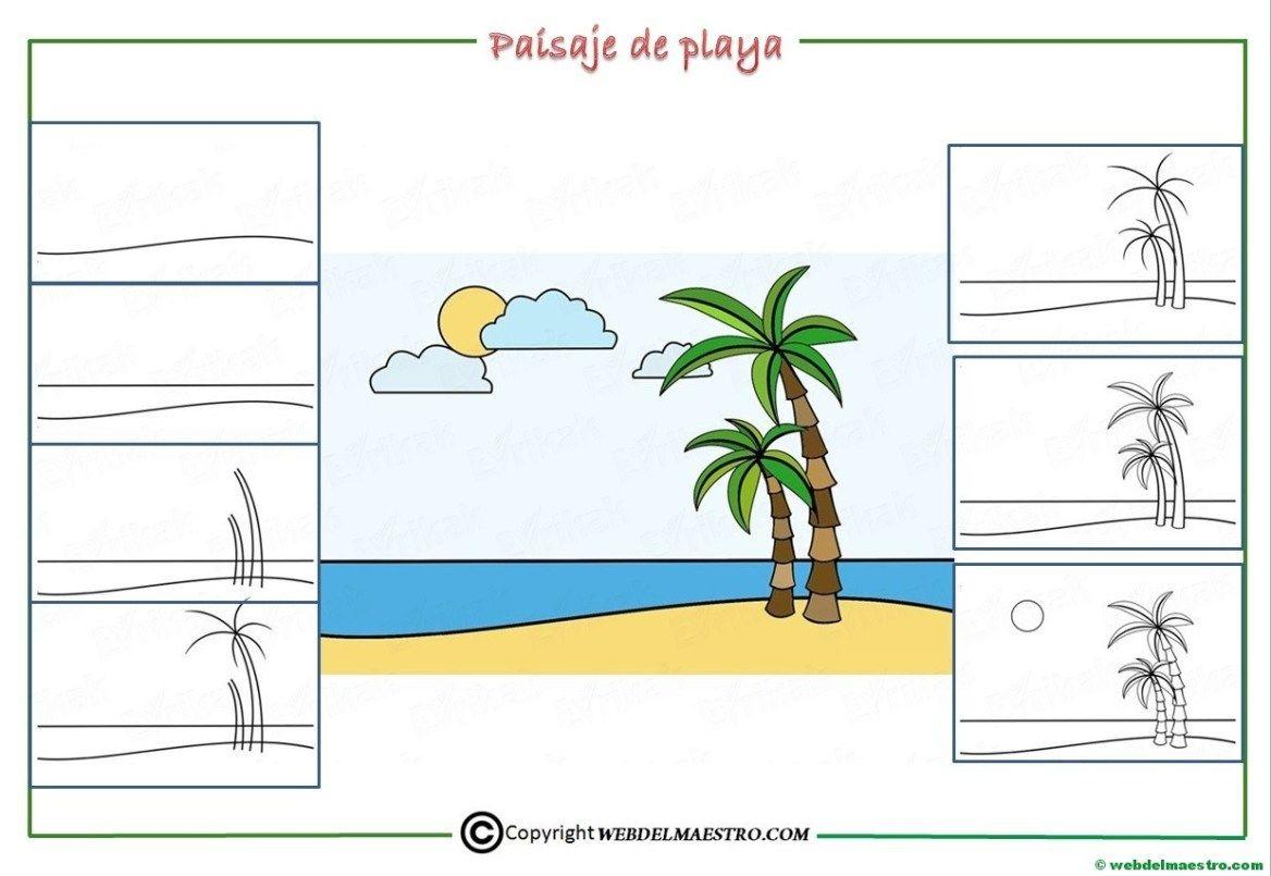 Como Dibujar Un Paisaje Para Ninos Web Del Maestro Paisajes Dibujos Playa Para Dibujar Como Dibujar Una Playa