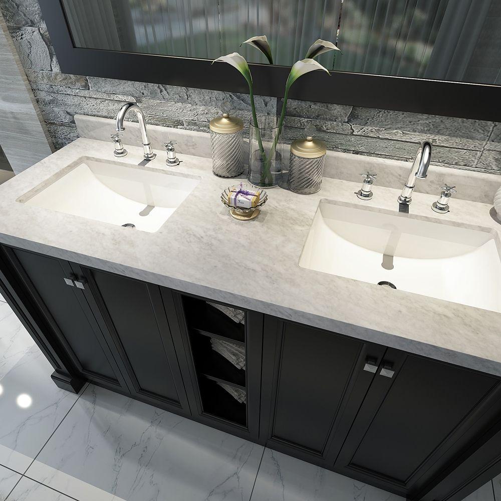 Wyndham Collection Amare Espresso Double Vessel Sink Bathroom