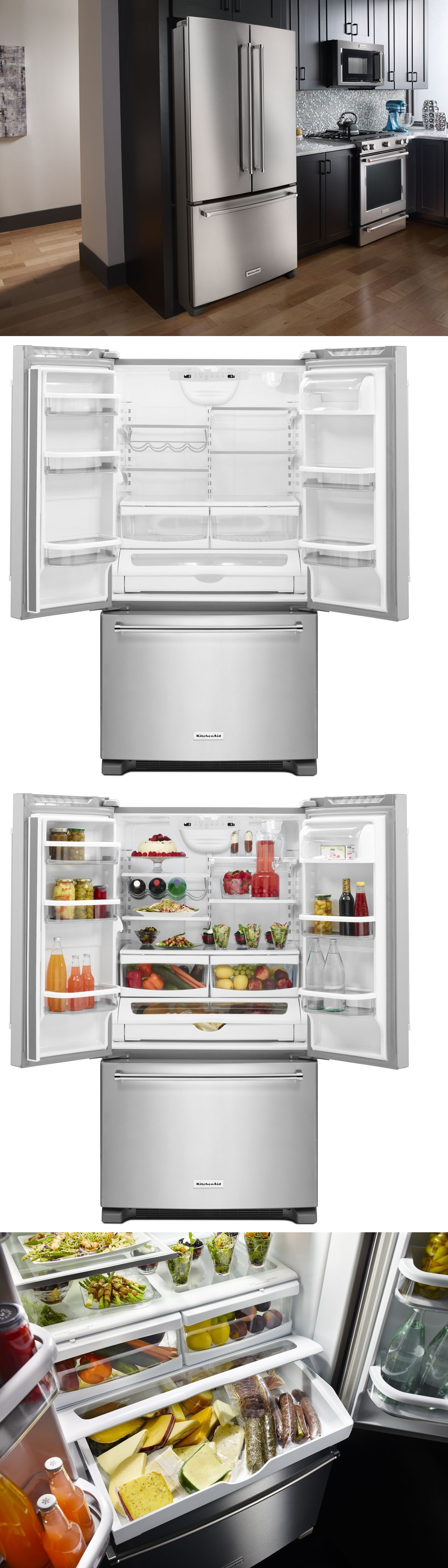 36 Refrigerators Refrigerators 20713 Kitchenaid Krff305ess 36 French Door