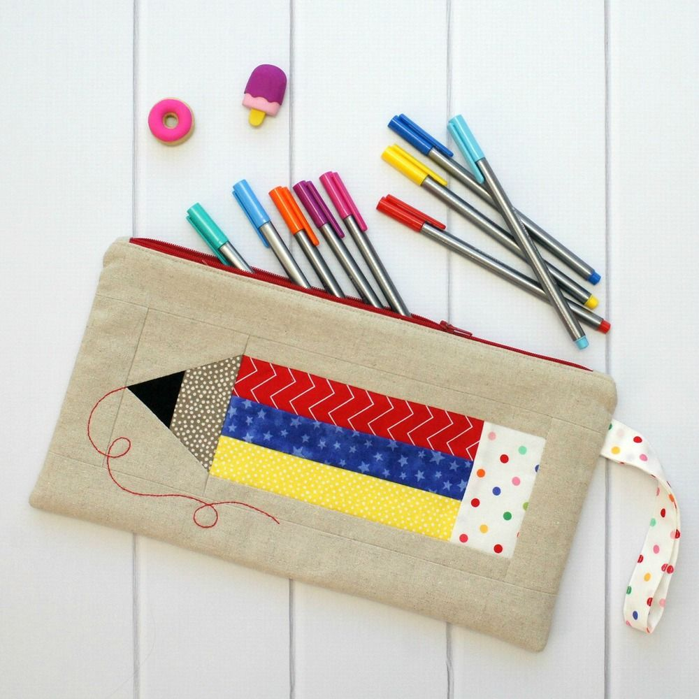 Colour My World Pencil Case PDF Pattern   Gifts to sew   Costura ...
