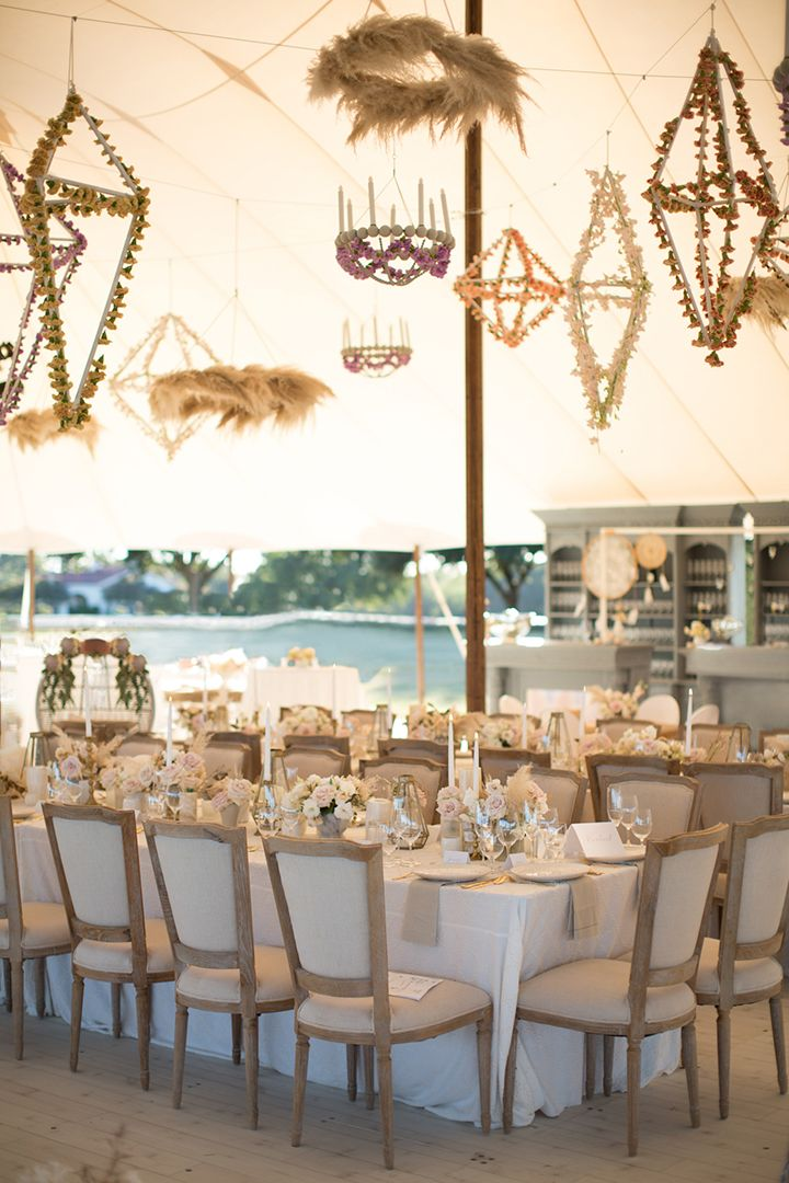 texas wedding featuring pampas grass decor