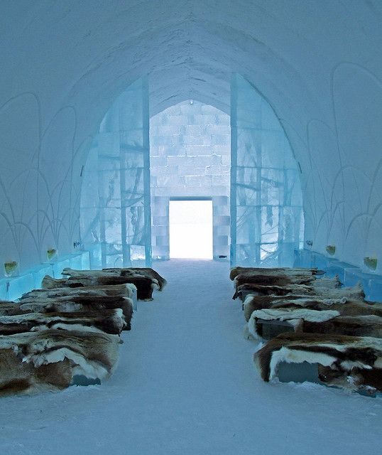 From the altar - Ice Hotel - Norrbotten, Sweden