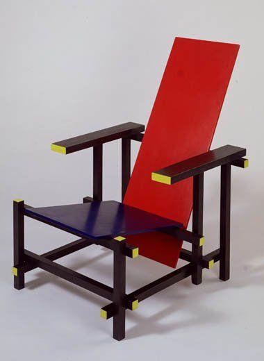 Red-Blue Chair, Gerrit Rietveld, 1918/1923